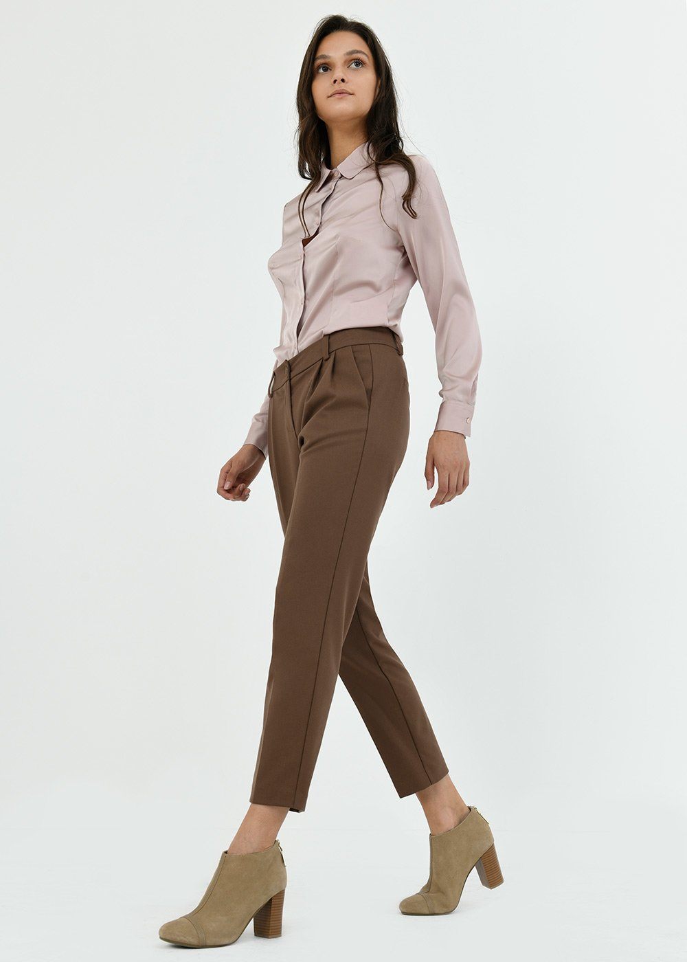 Gigi trousers with dart - Cacao - Donna