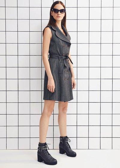 Adryen pinstripe waistcoat dress