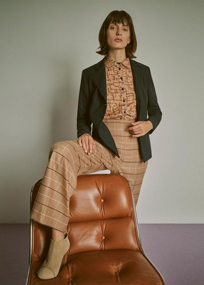 Peleo trousers with check print