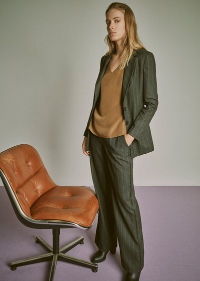 Ashley pinstripe trousers