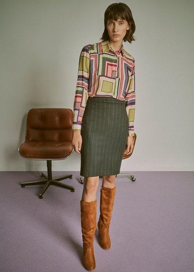 Grazia pinstripe skirt