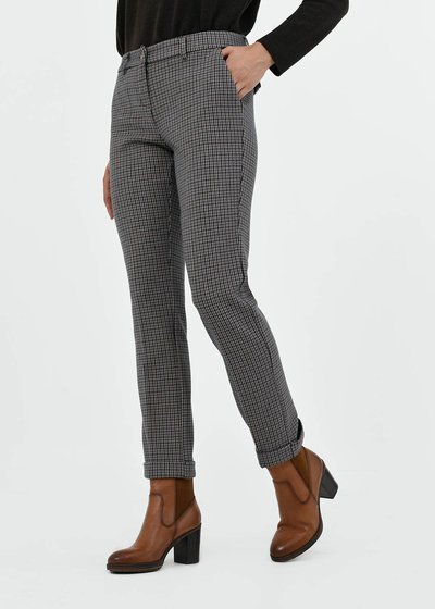 Bella trousers with micro check pattern