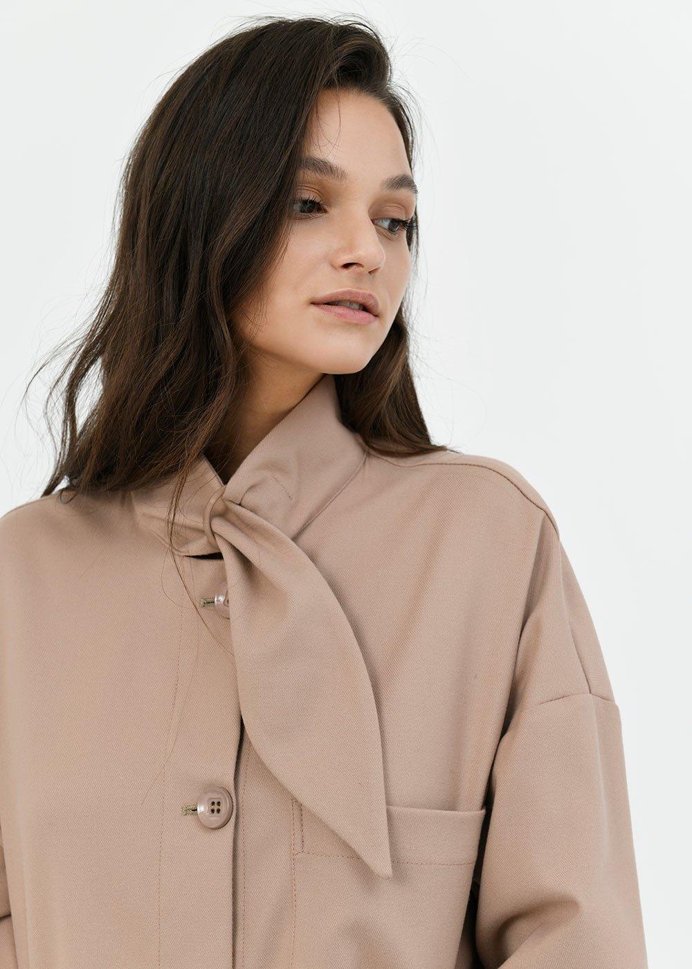 Cyril shirt-model jacket - Powder - Woman