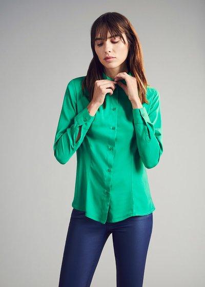 Crizia shirt with satin effect