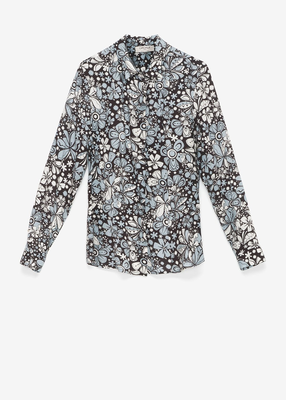 Clelia shirt with floral pattern - Black /  Fog  Multi - Woman
