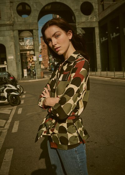 Catia shirt with geometric print