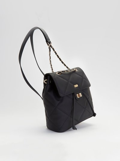 Beky backpack with rubberized effect