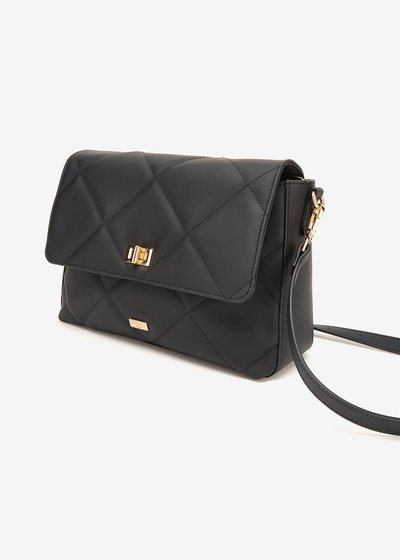 Beck shoulder bag with rubberized effect