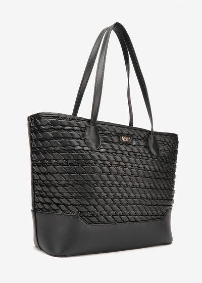 Bailee embossed shopping bag