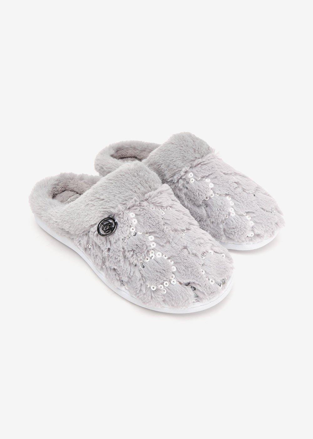 Pantofole Pammy in bouclè - Grey Melange - Donna