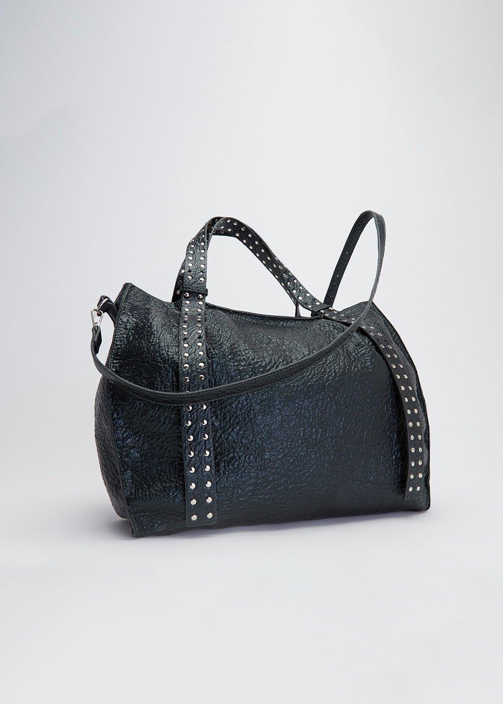 Brooke shopping bag with studs - Muschio - Woman