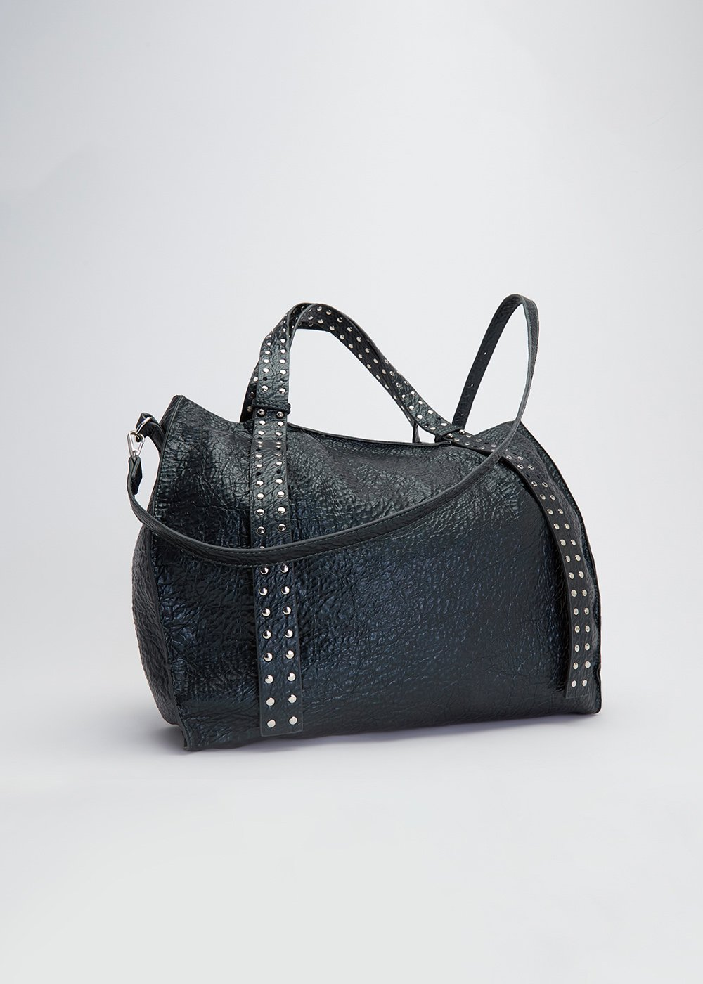 Brooke shopping bag with studs - Muschio - Woman