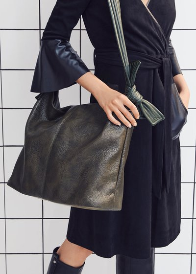 Blanche faux-leather bag