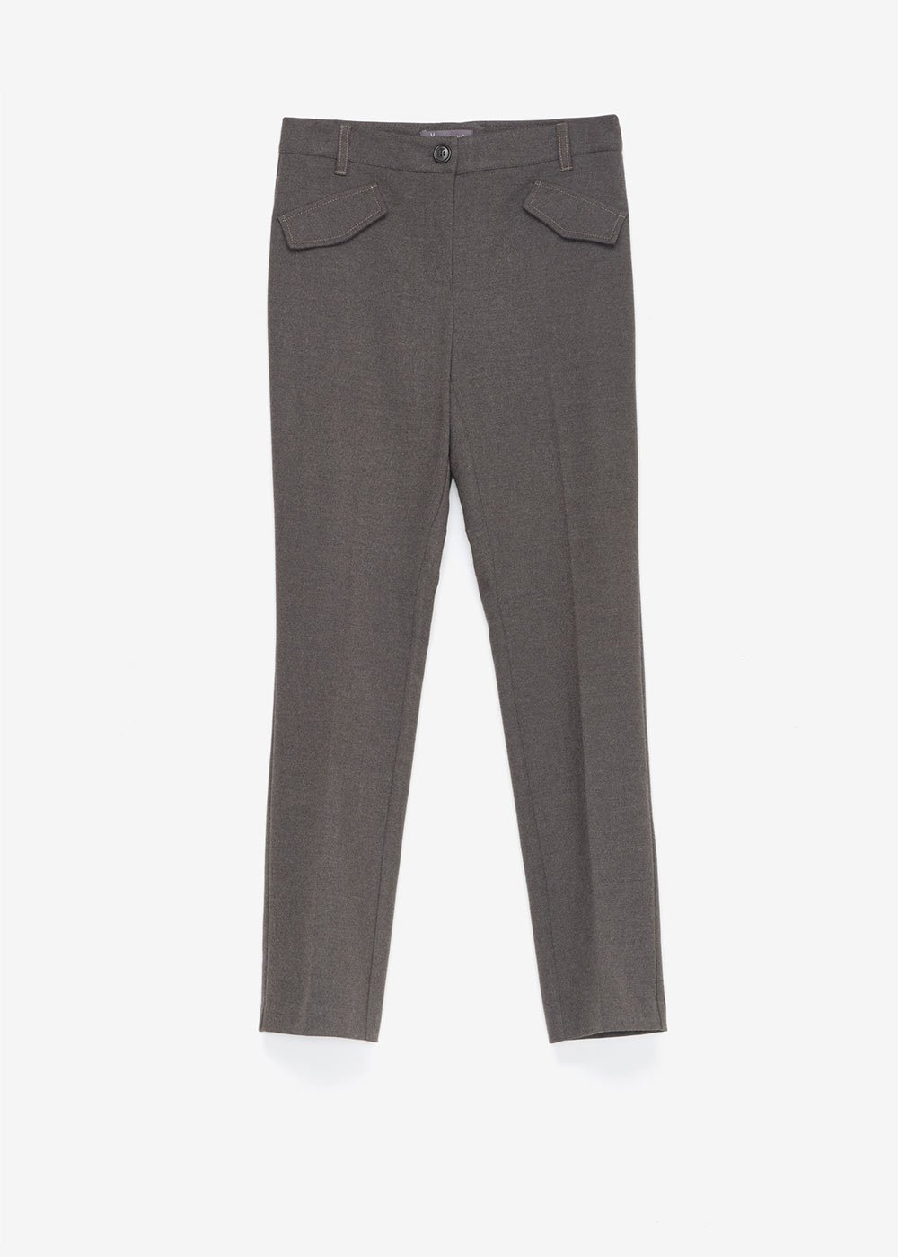 Carrie flannel trousers - Dark Grey Melange - Woman