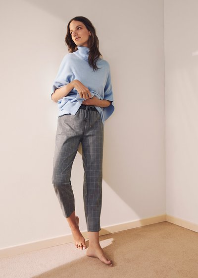 Cara flannel fabric trousers