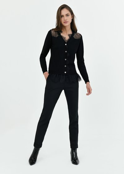 Bella trousers with turn-up hem