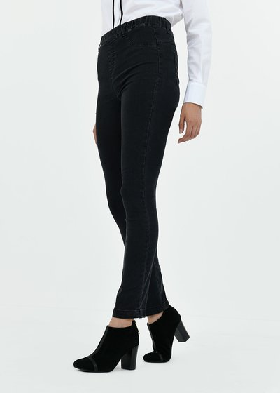 Cotton jeggings with covered elastic band