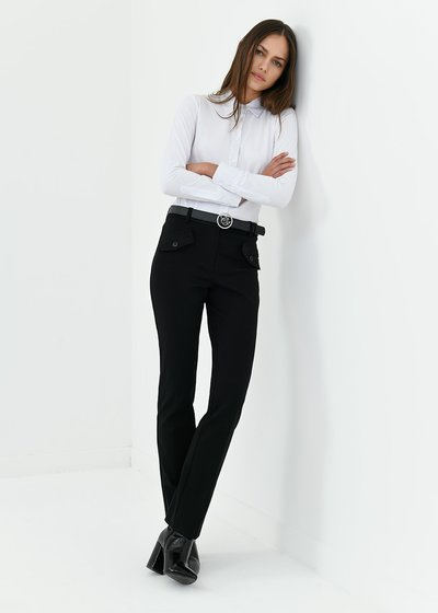 Carrie trousers in milano fabric
