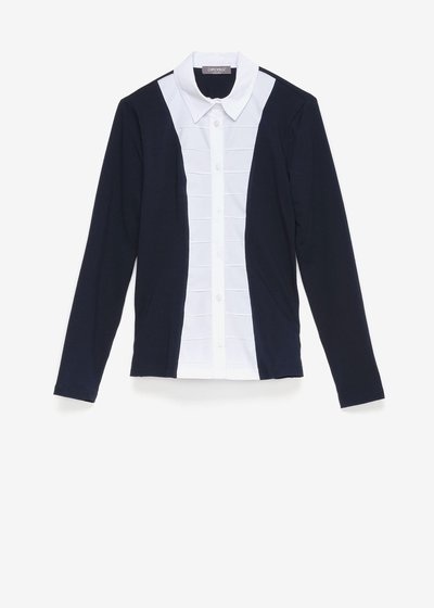 Catryn shirt with poplin bib