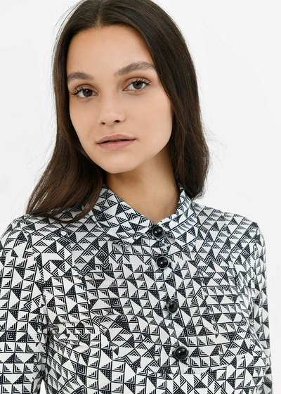 Susy t-shirt with geometric pattern