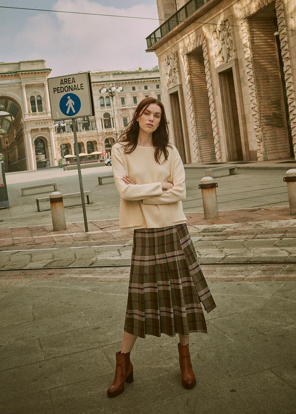 Giusy kilt model skirt - Timo / Porpora Fantasia - Woman