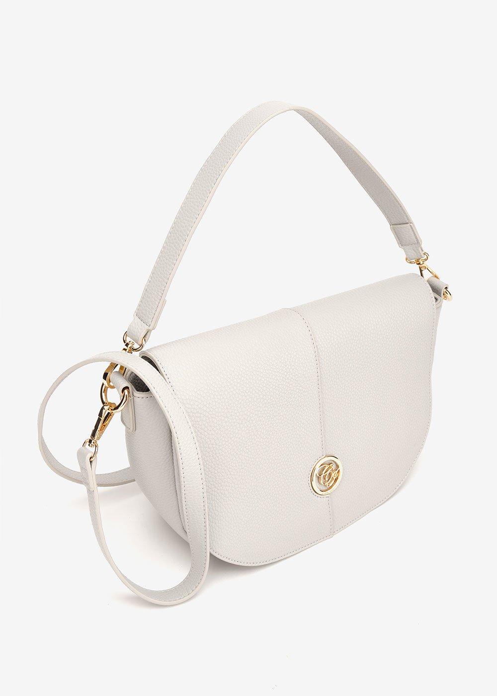 Bammy half-moon shoulder bag - Light Grey - Woman