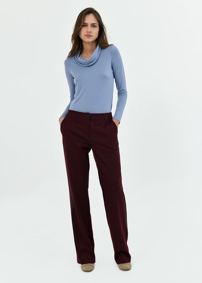 Clair grape purple trousers