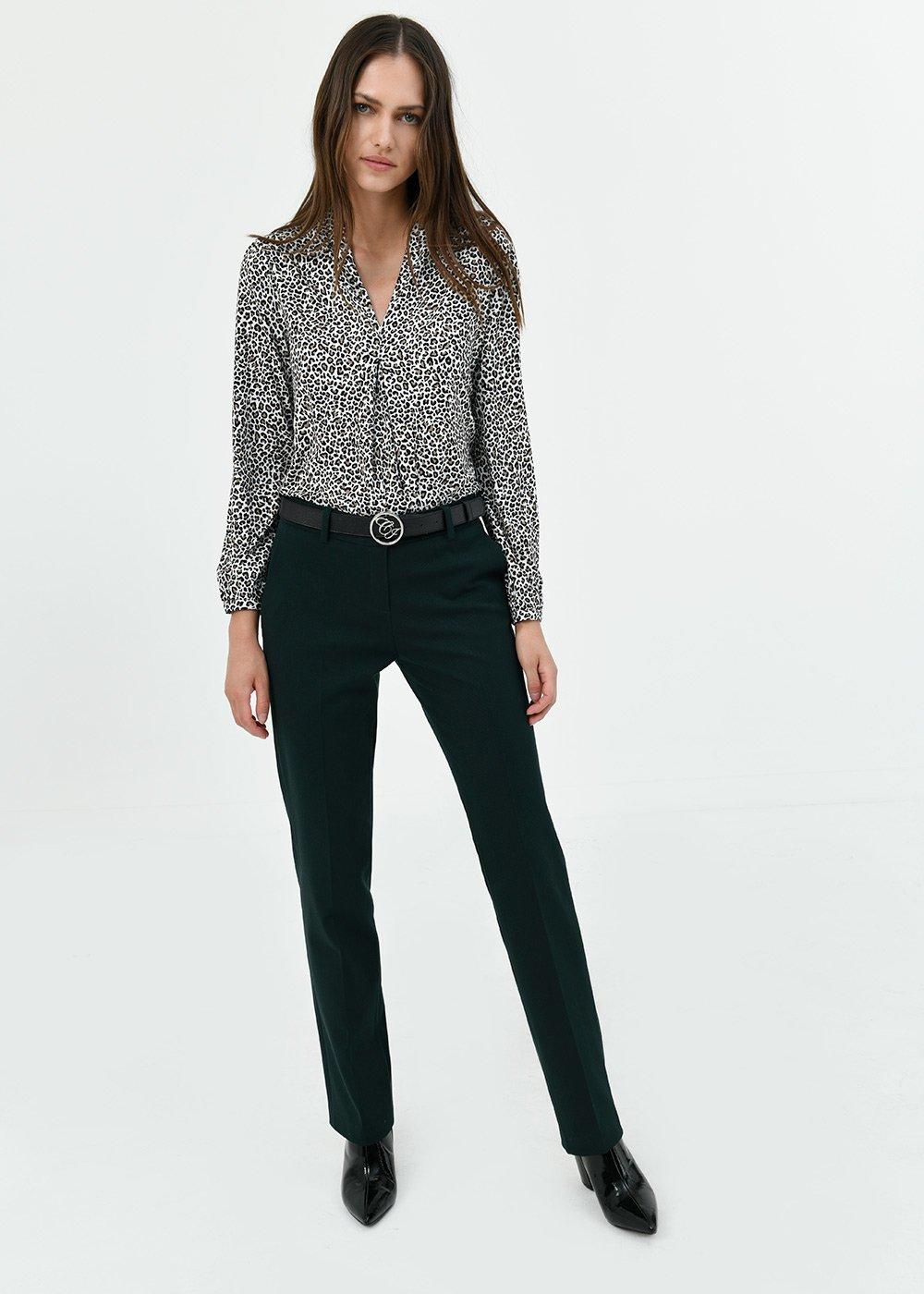 Clair straight leg trousers - Muschio - Woman
