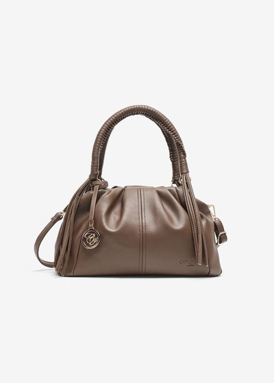 Brydie, eco-leather case bag with fringes
