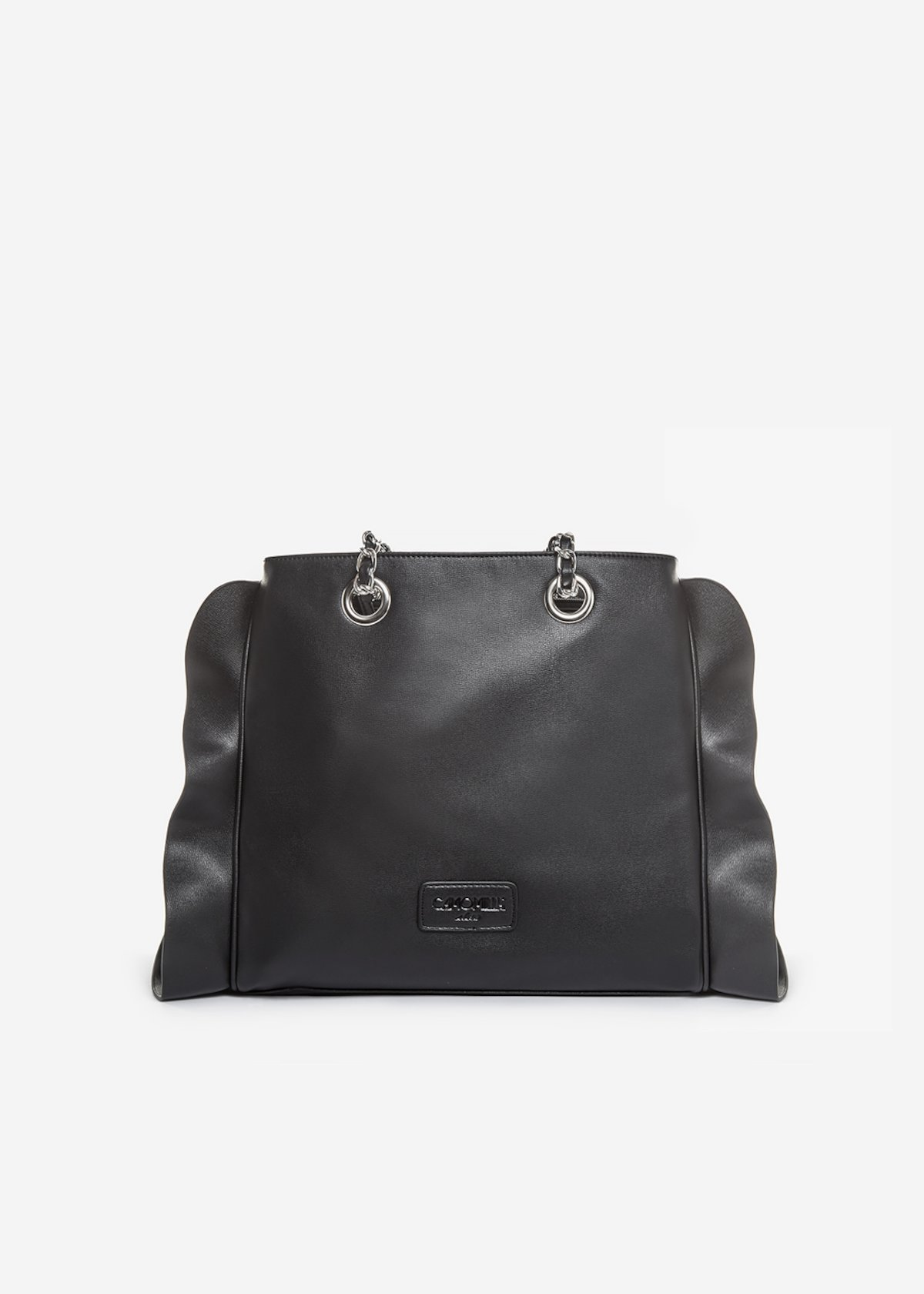 Besmira bag ruffle effect black - Black