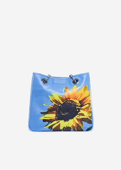 Bag Mini lady flower in ecopelle stampa Girasole