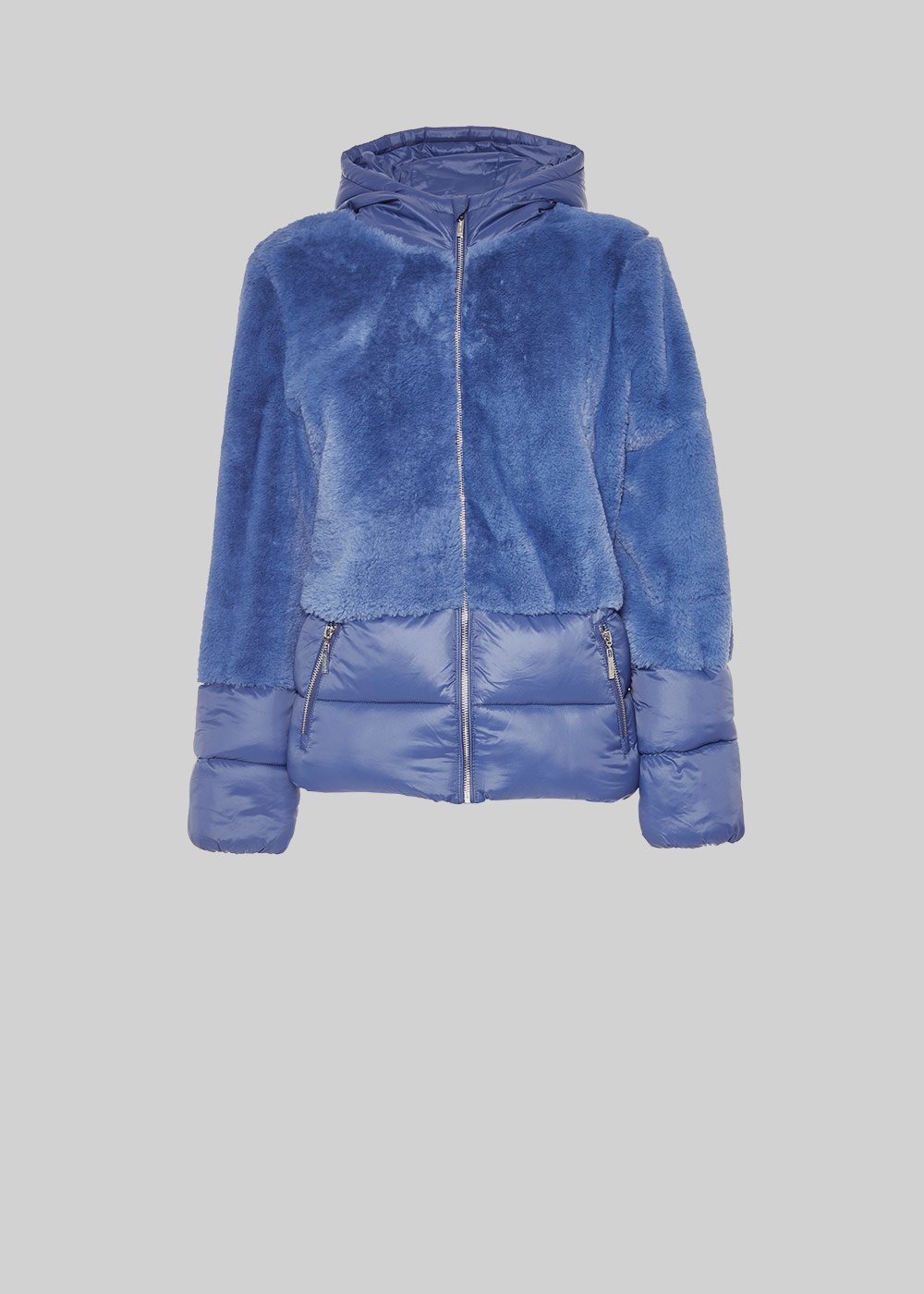 Penny jacket of eco-fur with hood