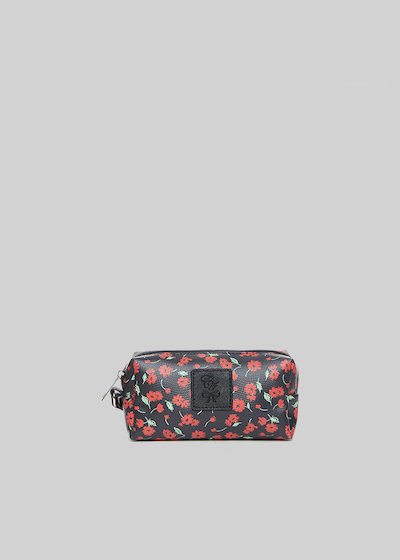 Beauty Briccflo2 in faux leather flowers print
