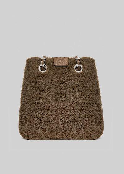 Bonn bag in faux fur with chain handles