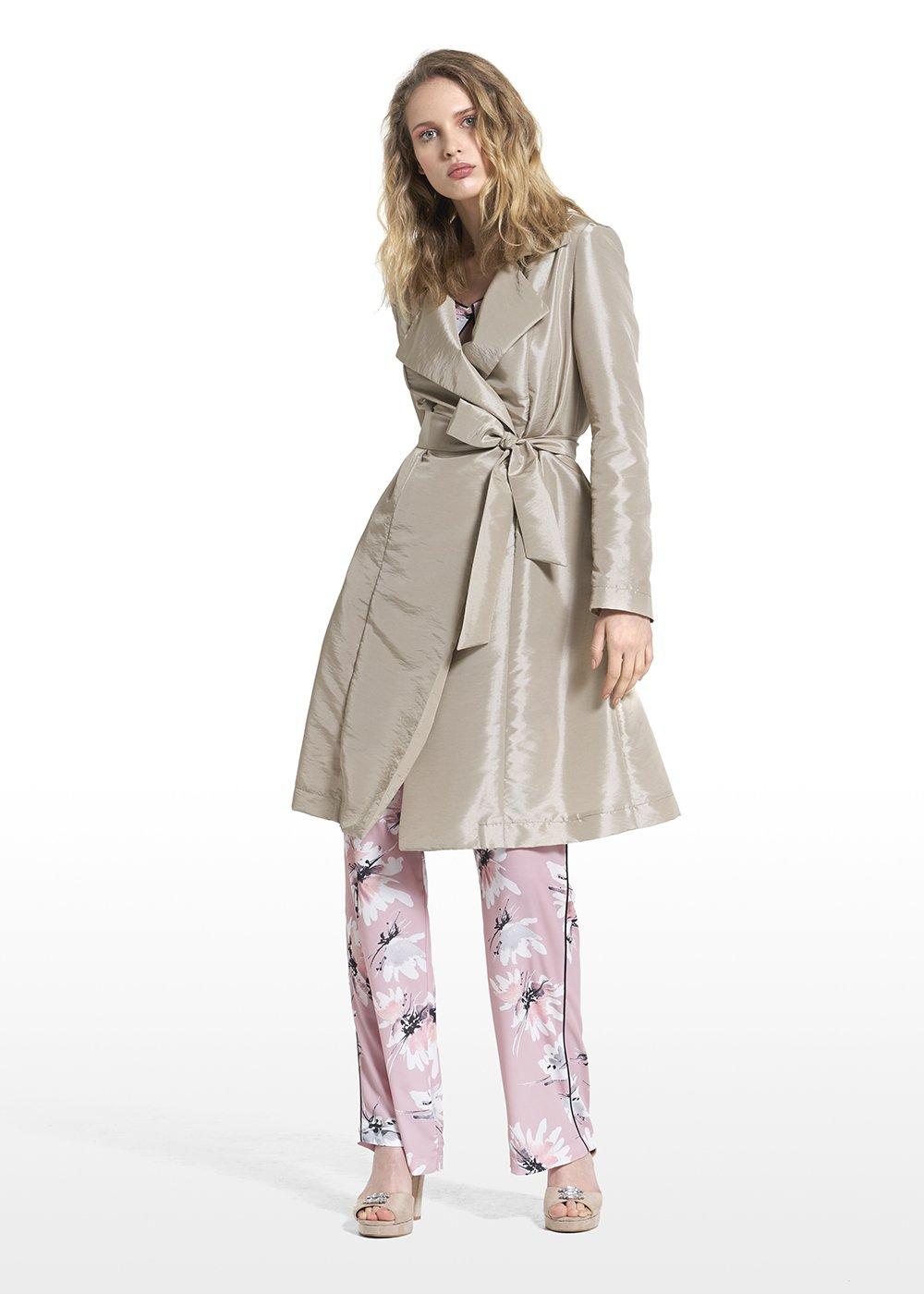 Thomas trench coat with waist belt - Light Beige - Woman