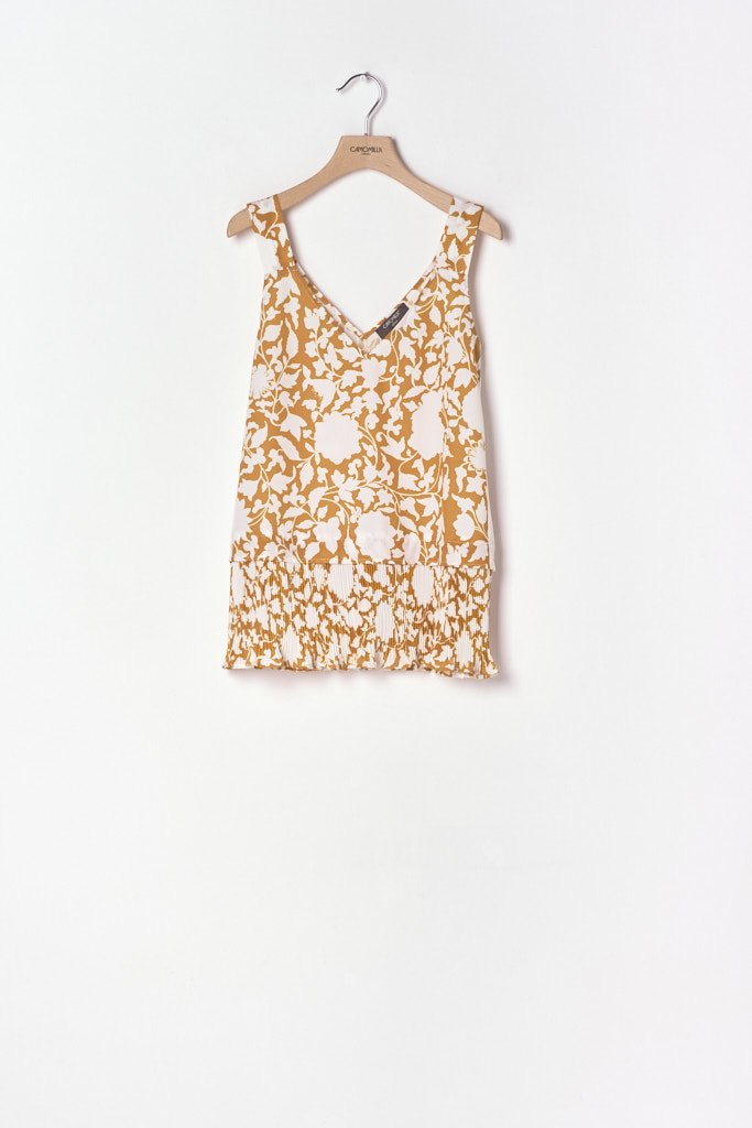 Teodor v-neck patterned top - Sole\ White\ Fantasia - Woman