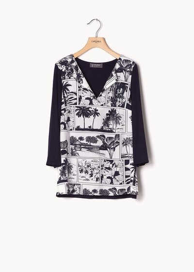 Stefany sweater with comic print