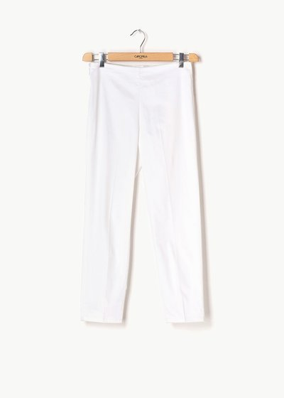 Claudia capri pants with side zipper