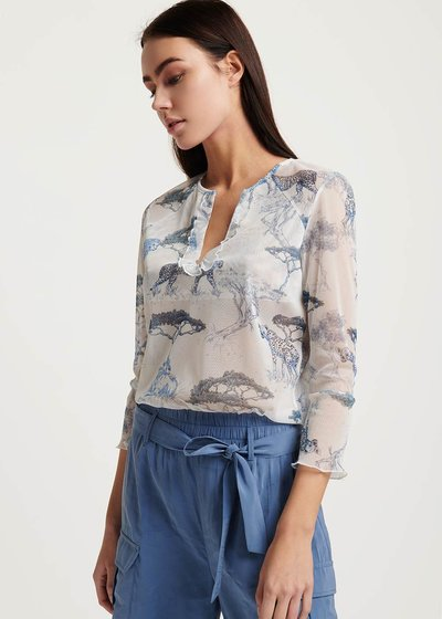 Sirya T-shirt with savannah print