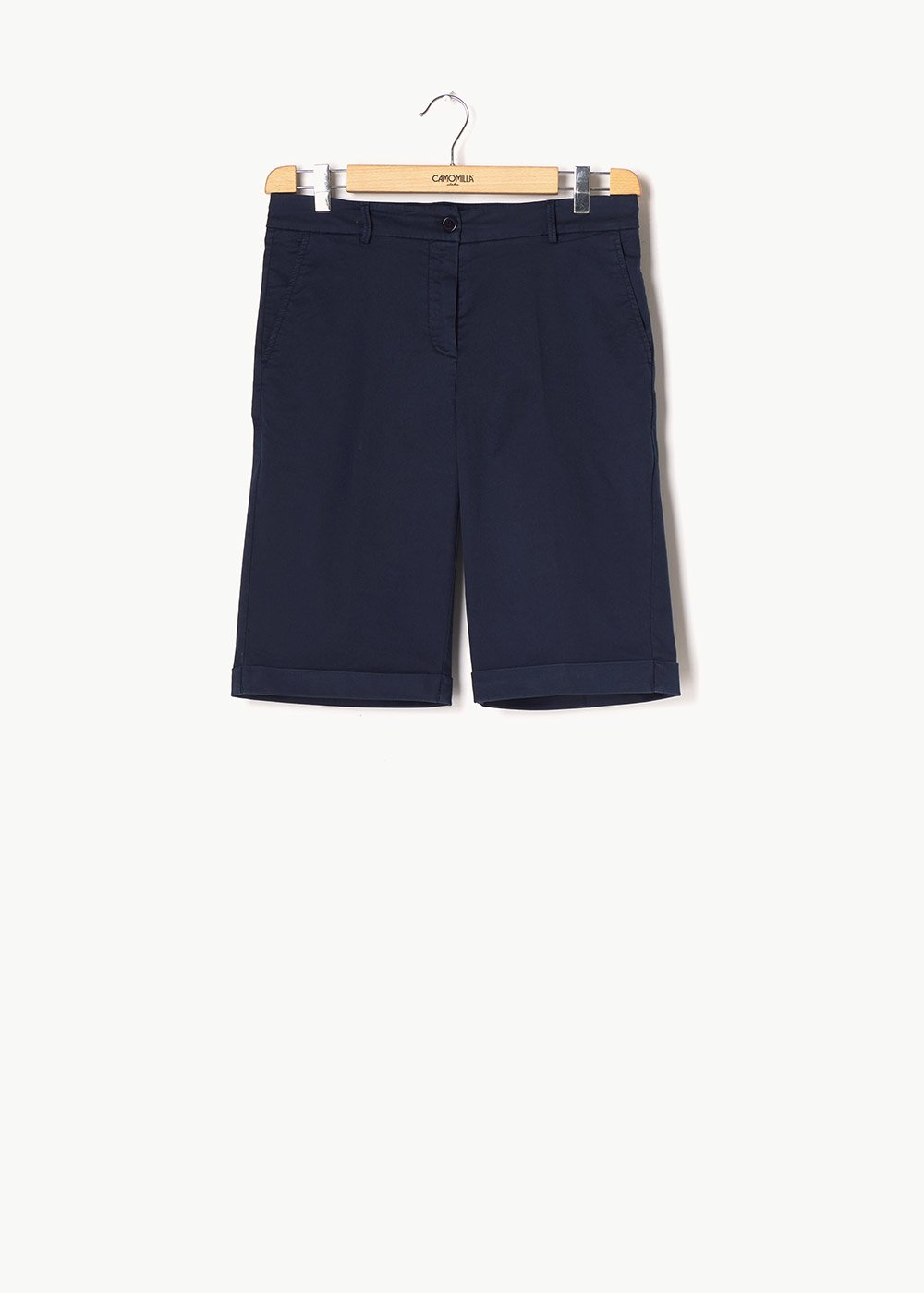 Brandon cotton bermuda shorts - Blue - Woman