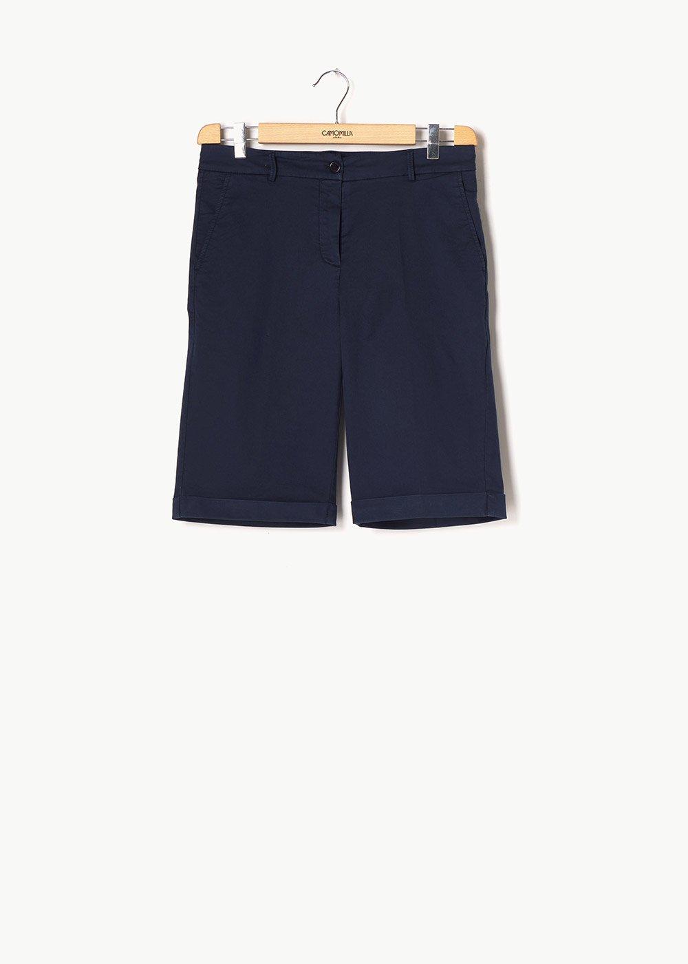 Brandon cotton bermuda shorts - Blue - Woman