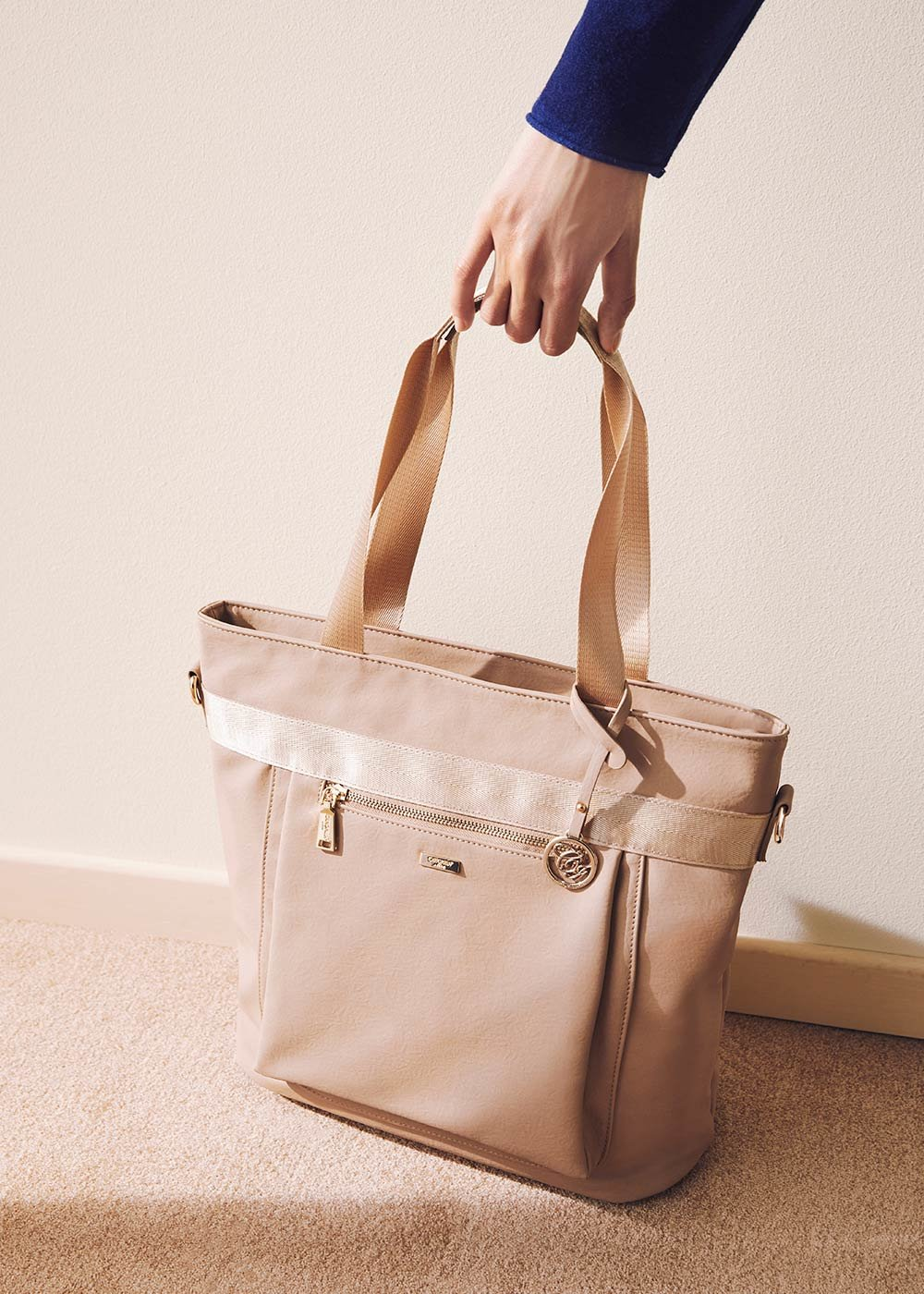 Becky multi-compartment shopping bag - Doeskin - Woman