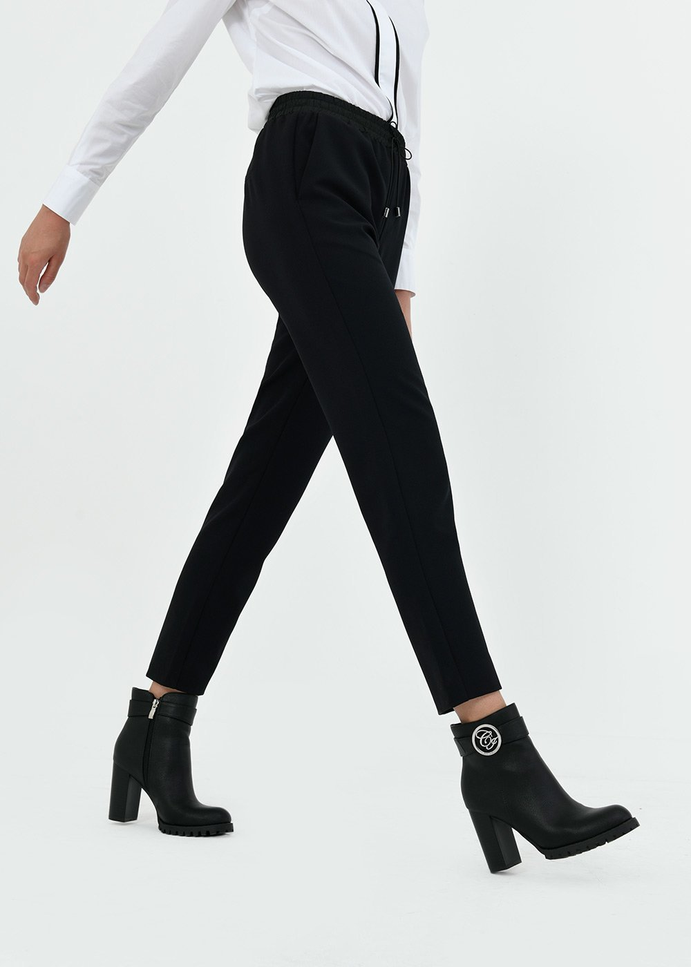 Alice trousers with drawstring waist - Black - Woman