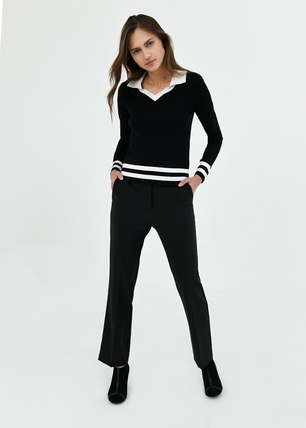 Jacqueline flared trousers - Black - Woman