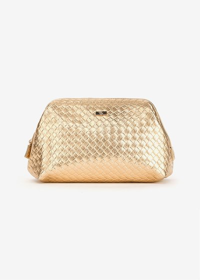 Benji vanity case with woven effect