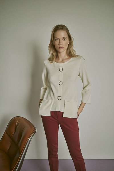 Micaela sweater with metal details