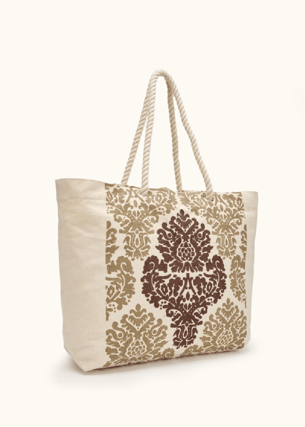 Briz canvas shopping bag with front print - Doeskin - Woman