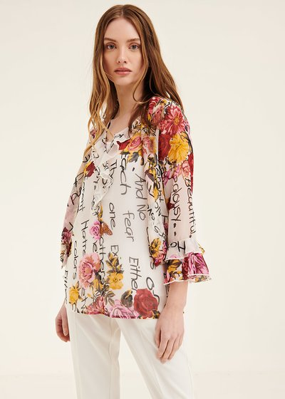 Clid shirt with floral pattern