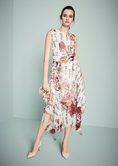 Aramis dress with floral pattern