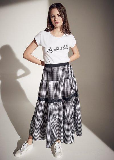 Giulia vichy print skirt